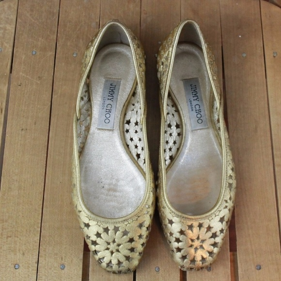 jimmy choo shoes london gold star cut out flat poshmark